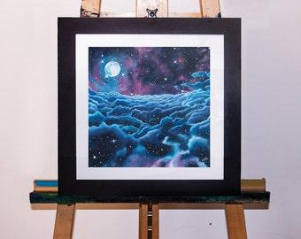 Cloud Gathering Space Galaxy