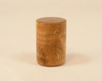 """Spalted Maple Finial Wood Lamp Finial Drum Pattern 2; 1.5"""" Tall x 1.1"""" Dia"""