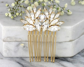 Bridal Hair Comb,Swarovski Hair Comb,Rhinestone Hair Comb,Bridal Hair Accessories,Rose Gold Hair Comb,Bridal Silver Hair Comb,Bridal Jewelry