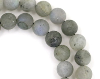 Labradorite Beads - Matte Finish - 6mm Round - Limited Quantity