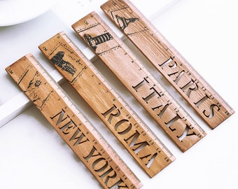 Contracted Wood Ruler Notepad Ruler- Bookmarks Ruler