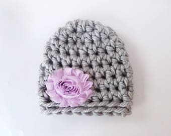 Baby Shower Gift Girl / Newborn Girl Hat / Baby Girl Beanie / Crochet Newborn Hat / Infant Girl Hat / Baby Girl Hat / Hats For Babies