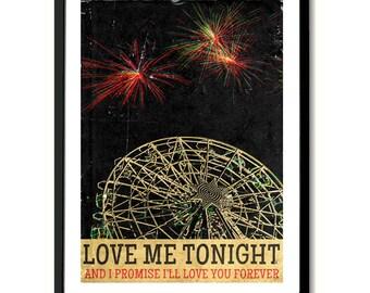 4th July Asbury Park Bruce Springsteen inspired inspired  Art Print
