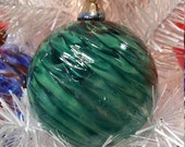 "NW Hand-Blown Glass Holiday/Christmas Ornaments ""Jade Twist"""