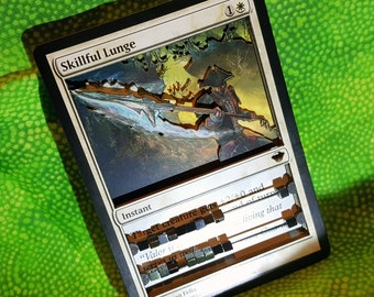 Layer Art- 3D- Life Counter: Skillful Lunge - Magic the Gathering