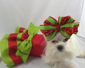 Christmas Beauty, Holiday dog dress, Christmas dog dress, wedding dog dress, bridesmaid-flowergirl dog dress, bridal dog, custom dog dress