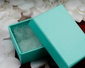 "DESTASH jewelry boxes, LOT of 20, 5 3/8"" x 3 7/8"", glossy teal jewelry boxes, 20 boxes"
