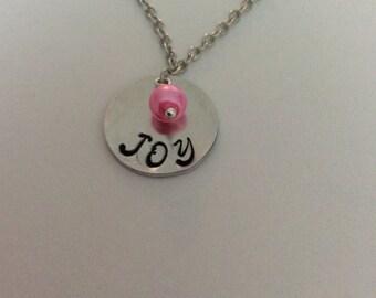 "Hand Stamped ""JOY"" Necklace"