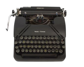 Exceptional Smith Corona Sterling Typewriter -  Portable - Manual - New Ribbon Installed - Excellent Working Condition