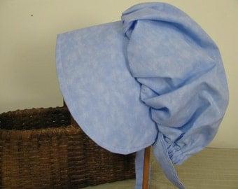 Prairie bonnet, age 3 to 6, pioneer, frontier,  Sky Blue , Girls,