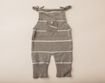 Grey Stripes Sweater- Newborn Photography Overall Set