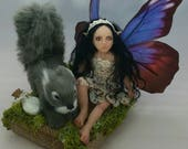 MidDreamers Childfairy Charlotte and the gray squirrel