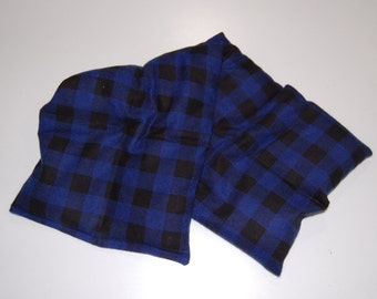 SALE, Rice Heating Pad / Ice Pack, Medium, Blue Buffalo Check