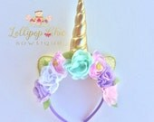 Unicorn Headband Pastel Colors