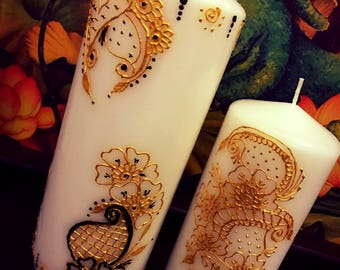 Henna Candles - set of 2