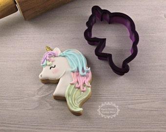 Unicorn Head #1 Cookie Cutter and Fondant Cutter and Clay Cutter