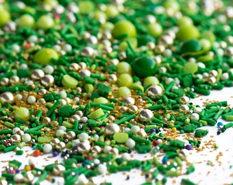 HAPPY GO LUCKY Twinkle Sprinkle Medley, St. Patrick's Day, Green, Gold, Rainbow, Canadian Sprinkles