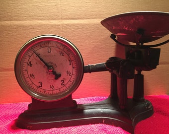 Antique Grocer Scale by Chatillon and Sons Two Faced dial