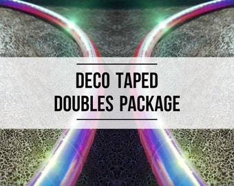 Doubles Set: Two Deco Taped Polypro Hula Hoops with Custom Tape,Tubing, Diameter and Grip Options!