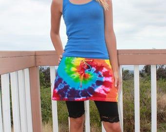 Tie Dye Skirt Size Medium upcycled
