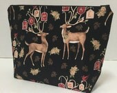 Peace Deer - Medium Zippy Poor Girl Project Bag