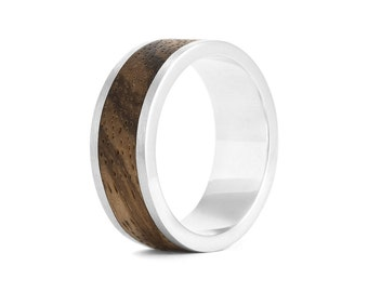 Native Chunk - Silver and Wood Ring