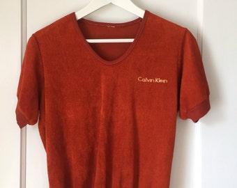 Vintage Calvin Klein Terry Cloth Tee