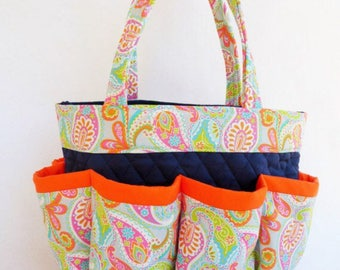 Orange paisley bingo bag
