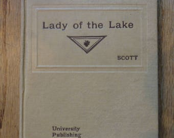 Lady Of The Lake by Sir Walter Scott 1896 Edition - From The Standard Literature Series, Vol 9