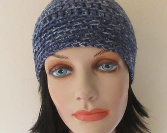 Blue Beanie, Cold Weather Accessory, Unisex Beanie, Blue Snow Hat, Ice Skating, Snow Playing
