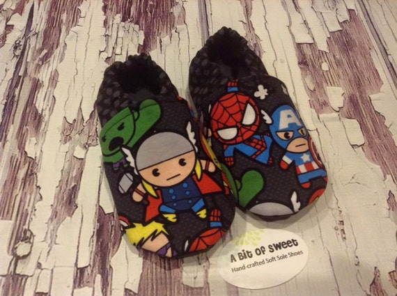 Heroes Soft Sole Shoes Size 2t