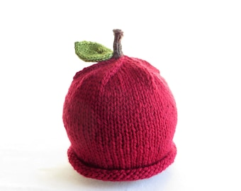 Apple Hat - Baby Size - Made to Order