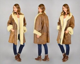 80's Oversized Curly Lamb Fur Coat