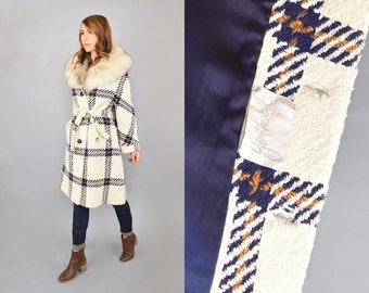 60's Fox Fur Swing Coat