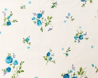Vintage Blue Rose Fabric Bundle