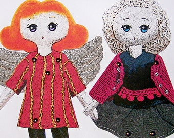 INSTANT DOWNLOAD DIGITAL - Two Jointed Paper Doll Friends Emily and Florence!