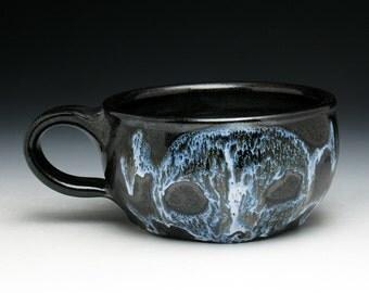 SECONDS SALE: Shaving Mug, Melted Skull and Crossbones Shaving Cup