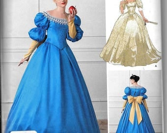 Simplicity 1728 Snow White Bride Queen Dress Costume Sewing Pattern Size 4, 6, 8, 10, 12