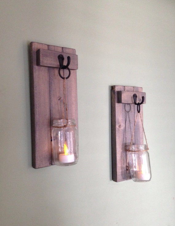 Rustic Wall Sconce Candle Holder : Rustic Wall Decor Rustic Wall Sconce Wooden Candle Holder