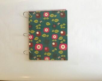 Notebook, 9 x 11 Binder, Loose Leaf Binder, Bridal Binder Planner, School Notebook, 3 Ring Binder Cover, Notebook Cover, Back to School FLO