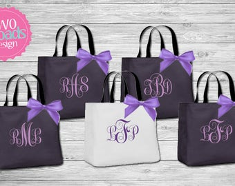 Bridesmaid Totes , Bridesmaid Gifts, Bridal Party Gift, Bridesmaid Tote Bag, Personalized Wedding Bag, Monogrammed Totes