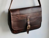 JAW Leather Satchel - Brown and black