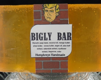 BIGLY BAR Trump Soap, Limited Edition, Big Glycerin Soap, Shave and Shampoo Beard Wash, President Trump, Pro or Anti Trump