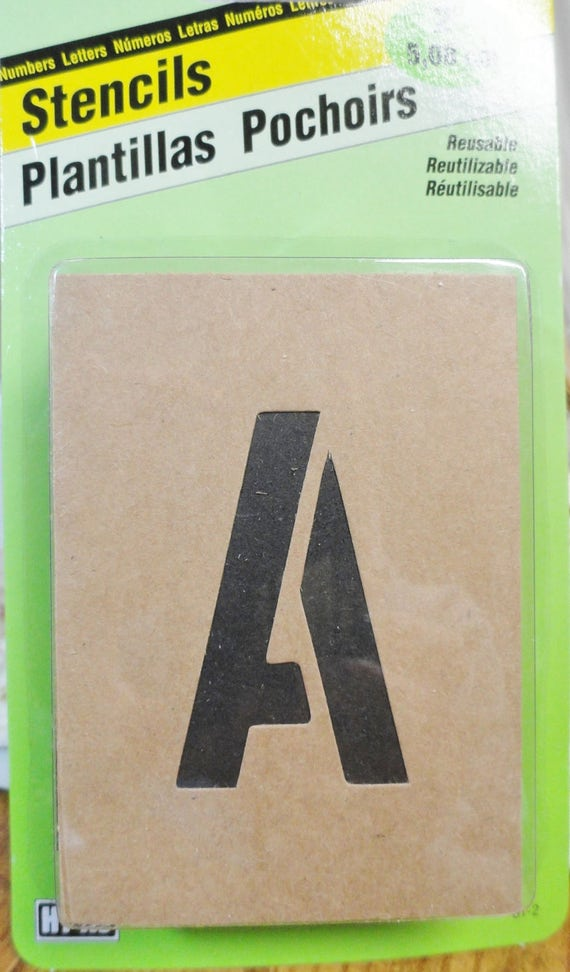 Alphabet stencils number stencils heavy board stencils for 2 inch letter board letters
