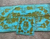 Vintage Floral Towel Set By Golden Crown, Bath towel, Washcloth