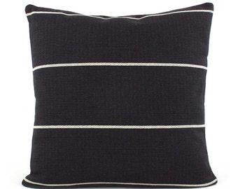 Black Pillow, Black Pillow Cover, 18x18, 20x20, 22x22, 24x24 Black Throw Pillow, Black Cushion, Accent Pillow Sham, Couch Pillow, Streamline