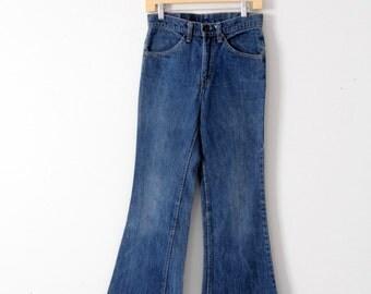1970s Levis jeans, vintage flare leg Levis 684 denim jeans, 29 x 29