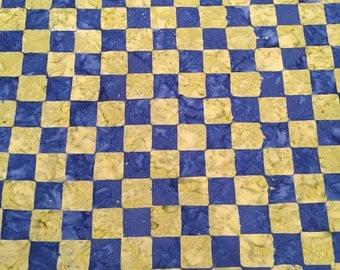 Chess cobalt, artisan collection by kaffe fassett for Free Spirit Fabrics 1/2 yd