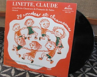 "Vintage 70's ""Linette, Claude et Les Petits Chanteurs De Saint Francois De Sales"" Children's French Vinyl Record Album - Children's Album"