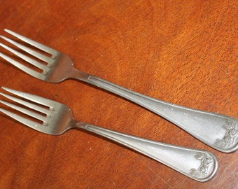 Vintage Flatware by HAMPTON SILVERSMITHS with roses in Stainless Steel Pattern Great for Projects BIN 58